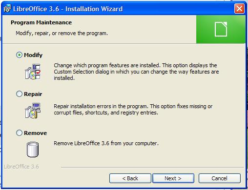 Libreoffice installer